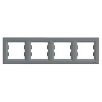 Schneider Electric Asfora Сталь Четверная горизонтальная рамка