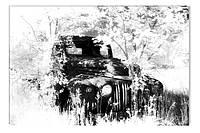 Светящиеся картина Startonight Ретро Автомобиль Черно Белые Печать на Холсте Декор стен Дизайн дома Интерьер, фото 1