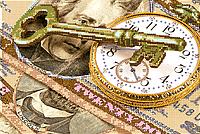 Схема для вышивки бисером POINT ART Время-деньги, размер 25х17 см