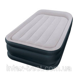 Intex 64132 надувная кровать Deluxe Pillow Rest Raised Bed 99x191x42см, фото 2