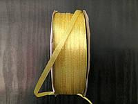 Лента атласная желтая 3мм, 100м в рулоне