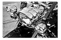 Светящиеся картина Startonight Мотоцикл Черно Белые Мотор Байк Печать Холст Декор стен Дизайн дома Интерьер