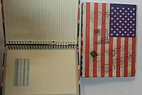 Блокнот, на кольцах, 100 листов, 80 гр., одноцветная печать, 18*26м