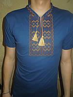 """Вышиванка  футболка  мужская """" Гуцул """" 21 (С.П.О.)"""