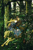 Схема для вышивки бисером «Иван Царевич на Сером волке»