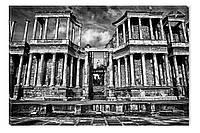 Светящиеся картина Startonight Амфитеатр Черно Белые Архитектура Печат Холст Декор стен Дизайн дома Интерьер