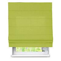 Римская штора с тканью Лен Зеленый