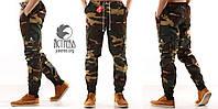 Классные молодежные штаны карго - Woodland camo (Вудкамо)