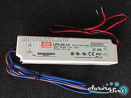 Mean Well LPV-60-12. Драйвера світлодіодів. LED драйвер. Світлодіодний драйвер.