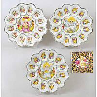 Тарелка для пасхи и пасхальных яиц круглая 22см 209-Е32