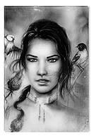 Светящиеся картина Startonight Портрет Девушки Черно Белые Печать на Холсте Декор стен Дизайн дома Интерьер