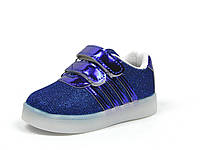 Детские кроссовки с мигалками J&G: A-9633-1,р.23(14,3 см)