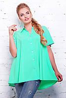 Летняя блузка-рубашка А-силуэта Туника