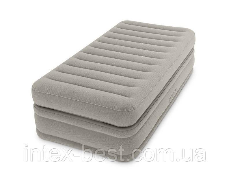 Intex 64444 надувная кровать Pillow Rest Mid-Rise Bed 99x191x51см