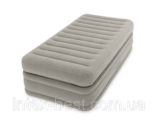 Intex 64444 надувная кровать Pillow Rest Mid-Rise Bed 99x191x51см, фото 2