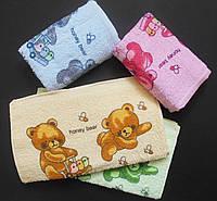 Детское полотенце для рук и лица. С мишками. 33х75. 100% хлопок