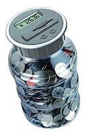 Копилка банка со счетчиком монет Money Jar (копилка для евро монет Мани Джар)