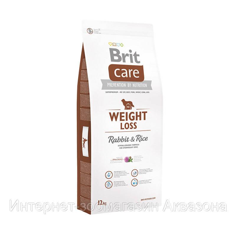 Brit Care Weight Loss Rabbit & Rice для собак с лишним весом 12 кг - Интернет-зоомагазин Аквазона в Харькове