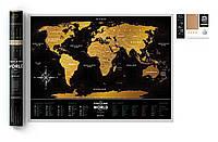 Скретч карта на английском Black World