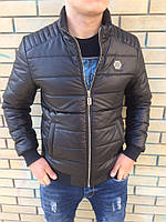 Черная мужская куртка Philipp Plein весна