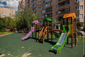"""Игровой комплекс оранжево-фиолетово-зеленый """"Карапуз-NEW"""" T803 NEW, фото 3"""