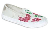 Слипоны текстильные белые IZA 3295 TRAMMPY 31-36