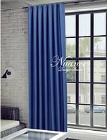 Шторный гладкий Blackout блэкаут Fon №4004-BLC-16 цвет синий