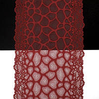 Кружево Франция арт. 364 красный, шир 19 см