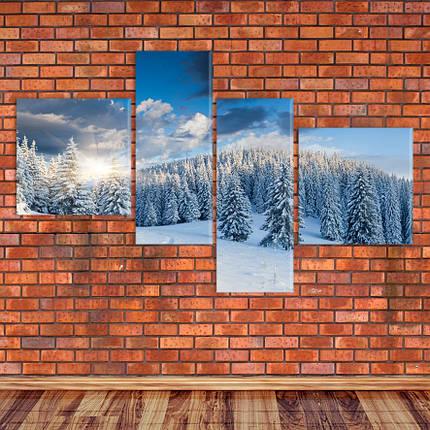 "Модульная картина ""Зима в Альпах"", фото 2"