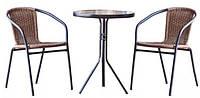 Комплект мебели со столом для сада, дачи или террасы, набор садовой мебели из двух стульев и стола