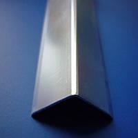 Уголок алюминиевый декорированный серебро, золото 20*20, матовый, золото