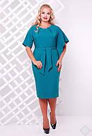 Платье большого размера VP18 бирюза, фото 1