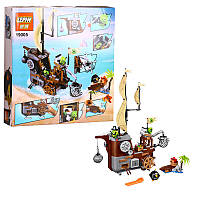 """Конструктор Angry Birds Lepin 19005 (аналог LEGO 75825) """"Пиратский корабль свинок"""", 620 деталей"""