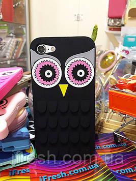 Чехол Сова для iPhone 7, чёрный