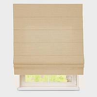 Римская штора с тканью Лен Персик
