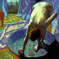 """Схема для вышивки бисером POINT ART Эдгар Дега """"Женщина в тазу"""", размер 32х32 см"""