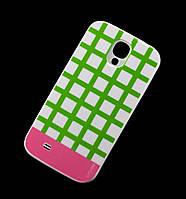 Чехол для Samsung i9500 Galaxy S4 Araree клетка зеленый