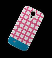 Чехол для Samsung i9500 Galaxy S4 Araree клетка розовый