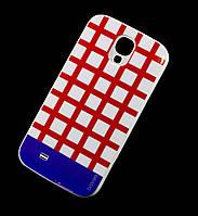 Чехол для Samsung i9500 Galaxy S4 Araree клетка красный