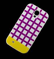 Чехол для Samsung i9500 Galaxy S4 Araree клетка фиолетовый