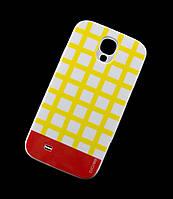Чехол для Samsung i9500 Galaxy S4 Araree клетка желтый