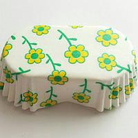 Бумажные формы для пироженых и кексов 25 шт Ромашка 6*3*2 см