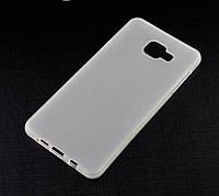Силиконовый чехол для Samsung Galaxy A7 2016 (A710) бампер матовый / прозрачный