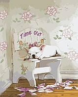 Картина по номерам KH2474 Белый бульдог (40 х 50 см) Идейка