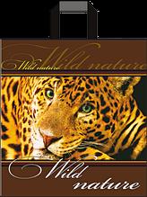 "Пакет с ручками петля ""Леопард"" (38х43+3)80мкм 25шт/упаковка"