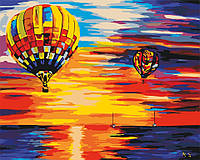 Картина по номерам KHO2820 Воздушные шары на закате худ Афремов Леонид (40 х 50 см) Идейка