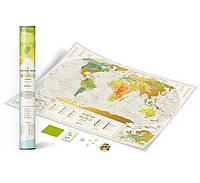 Скретч карта на англиском Geography World