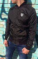 Черная мужская ветровка-бомбер Philipp Plein