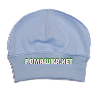 Детская трикотажная шапочка р. 36 для новорожденного швы наружу отлично тянется ТМ Алекс 3424 Голубой