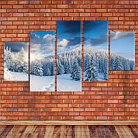 "Модульная картина ""Зима в Альпах"""